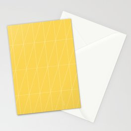 Yellow Triangles by Friztin Stationery Cards