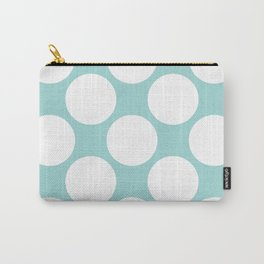 Polka Dots Blue Carry-All Pouch