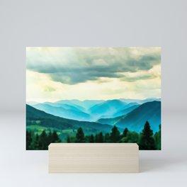 Clouded Beauty Mini Art Print