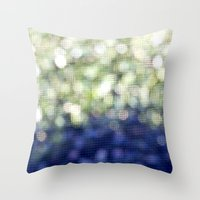 bokeh Throw Pillows featuring Bokeh by natalie sales