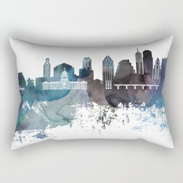 Austin skyline canvas print Rectangular Pillow