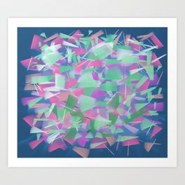 Bright Colored Shards Art Print