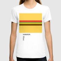 hamburger T-shirts featuring Pantone Food - Hamburger by Picomodi
