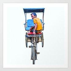 Cycle Wala, Jaipur. India Art Print