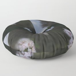 Abstract with geraniums Floor Pillow