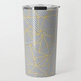 Ab Outline Gold and Grey Travel Mug