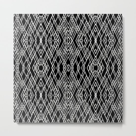 Art Deco Black and White Metal Print