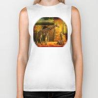 giraffes Biker Tanks featuring Giraffes by LudaNayvelt