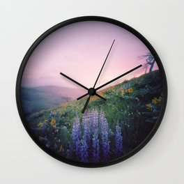 Wild Flowers in the Big Horn Mountains Wall Clock
