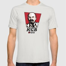 KGB Mens Fitted Tee LARGE Silver