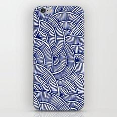 Swirls Blue iPhone & iPod Skin