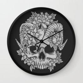 Japanese Skull Wall Clock
