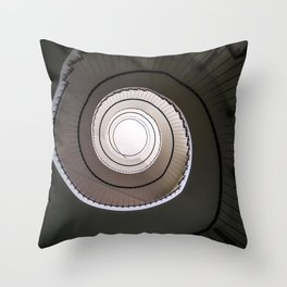 Spiral staircase in brown and beige tones Throw Pillow