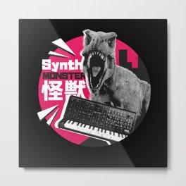 Synthesizer T-Rex Metal Print