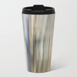 Soft Blue and Gold Abstract Travel Mug