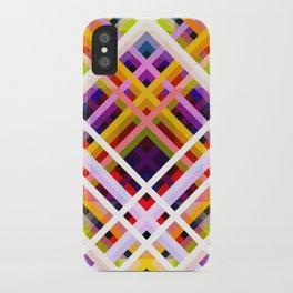 Colorful Abstract Symmetric Grit Art - Ratatoskr iPhone Case