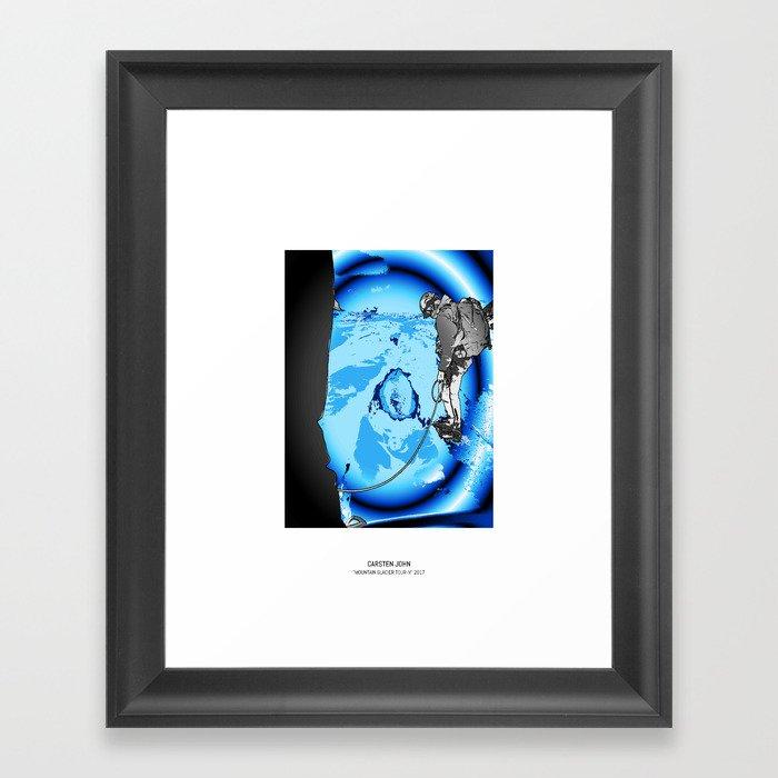 MOUNTAIN GLACIER TOUR IV Framed Art Print