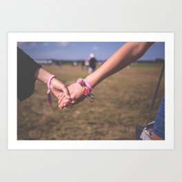 Women Holding Hands Art Print