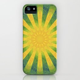 yellow rays iPhone Case