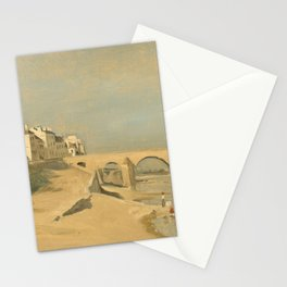 "Jean-Baptiste-Camille Corot ""Bridge on the Saône River at Mâcon"" Stationery Cards"