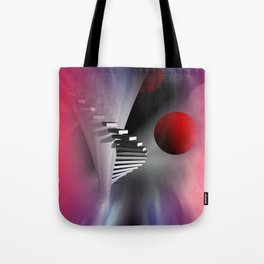 go upstairs Tote Bag