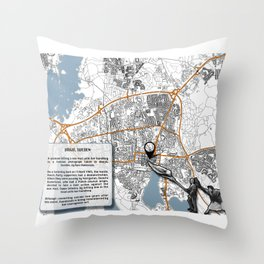 Atlas of Inspiring Protests; VÄXJO Throw Pillow