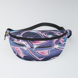 Pager Graffiti Mural Royal Stain Fanny Pack