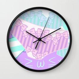 Pastel Panty Attack! Wall Clock