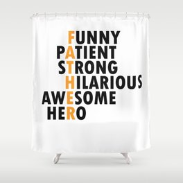 Father Father Character Proud Dad Values Gift Shower Curtain