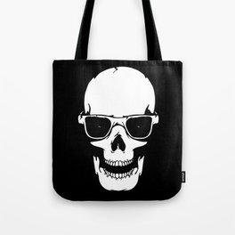 Skull in shades Tote Bag