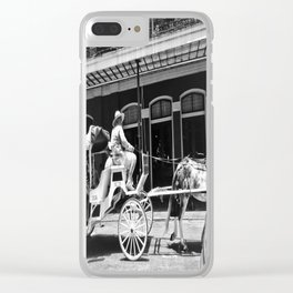 Mule Drawn Carriage Clear iPhone Case