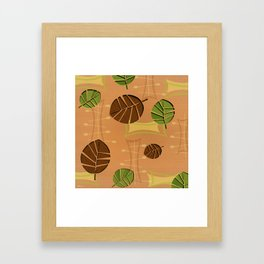 Tiki Bar Wallpaper Pattern Framed Art Print