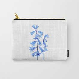 botanical bluebell flowers watercolor Carry-All Pouch