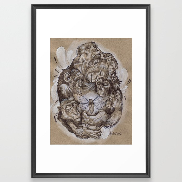 Protecting the Delicate Things Framed Art Print