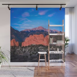 Pikes Peak - Sunrise Over Garden of the Gods in Colorado Springs Wall Mural