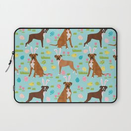 Boxer dog breed pet art easter spring dog gifts boxer dogs pure breed Laptop Sleeve
