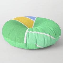 Green Geometry Floor Pillow