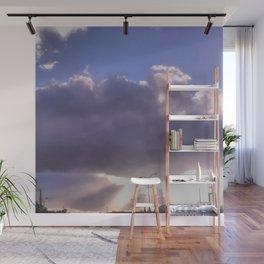 Cloudy Break Through Wall Mural