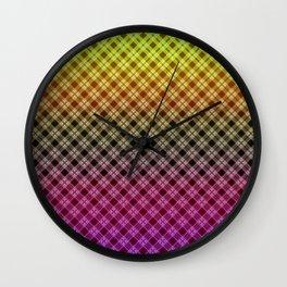 Ombre plaid #plaid #Ombre #gradient #gradientplaid Wall Clock
