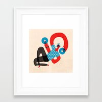 dj Framed Art Prints featuring DJ by Keith Negley