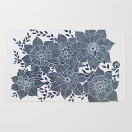 Zentangled Flowers Rug