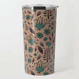 Blue vintage flower  Travel Mug