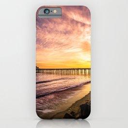 Photos USA Malibu Sea Nature Sky Scenery Sunrises and sunsets Coast stone Marinas sunrise and sunset landscape photography Pier Berth Stones iPhone Case