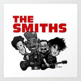 The Smiths (white version) Art Print