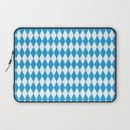 Oktoberfest Bavarian Blue and White Large Diagonal Diamond Pattern Laptop Sleeve