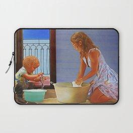 Cheerful Chores version 2 Laptop Sleeve