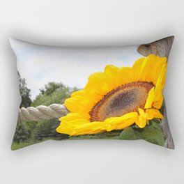 Sunflowers by the Sea Rectangular Pillow