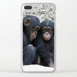 Chimpanzee 002 Clear iPhone Case