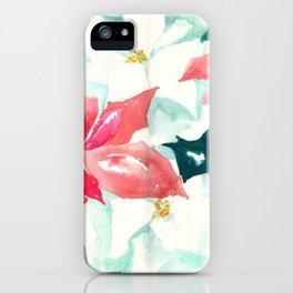 Poinsettia Cheer iPhone Case