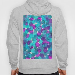 Watercolor Circles - Bright Turquoise and Purple Palette Hoody